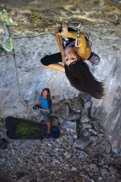 JC Hunter on Fantasy Island (5.14c), American Fork Canyon, Utah.