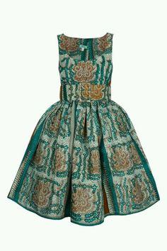 Cotton African print dress.