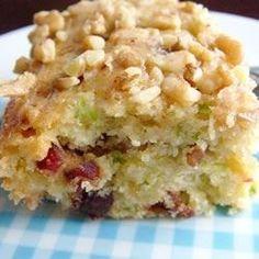 Zucchini-Coconut Cookie Bars - Allrecipes.com