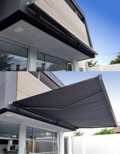 Kassettenmarkise gelenk arm balkon terrasse sonnenschutz