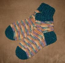 Mrs D Crochets Aunt Terry's Slipper Socks I