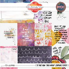 If not now, then when? {Journal Cards} by Little Butterfly Wings