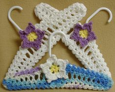 Crochet Clothes Hangers Childs Fancy Baby Shower Display  www.etsy.com