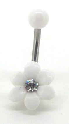 Body Accentz™ Belly Button Ring Navel Flower Body Jewelry 14 Gauge $2.49