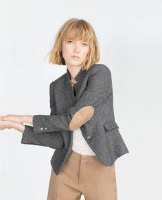 Image 4 of WOOL HERRINGBONE BLAZER from Zara