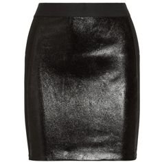 Mason by Michelle Mason Stretch jersey-paneled leather mini skirt (240 AUD) ❤ liked on Polyvore featuring skirts, mini skirts, bottoms, saias, faldas, black, short mini skirts, leather zipper skirt, panel skirt and stretch leather skirt