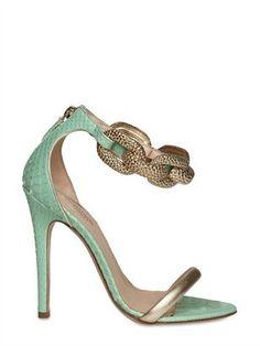 Giambattista Valli 120mm Python & Chain Sandals http://www.luisaviaroma.com/productid/itemcode/55I-AC7001