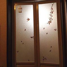 セリア/ブラウン/ウォールステッカー/ウォールステッカー セリア/お風呂のドア…などのインテリア実例 - 2014-03-03 22:26:58 | RoomClip(ルームクリップ)