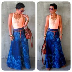 Fashion, Lifestyle, and DIY: DIY Denim Maxi: Pattern Review of Burda 7283 (modified)