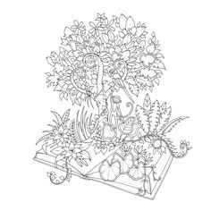 Magical Jungle: An Inky Expedition & Colouring Book (Colouring Books)…