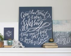 Come Thou Fount Canvas. Lindsay Letters.