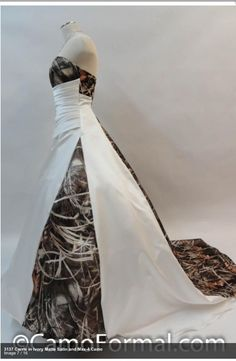 Cute cause it's a wedding dress.lol and classy cause it is white with a hint of camo