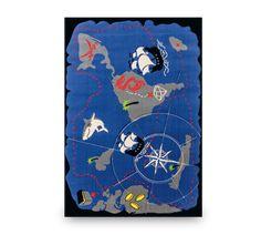 Covor pentru copii Pirate Multicolour / Blue, 133 x 190 cm Kids Pirate Ship, Pirate Bedroom, Pirate Room Decor, Nautical Rugs, Nautical Bedroom, Boys Bedroom Themes, Nursery Rugs, Pirate Theme, Blue Area Rugs