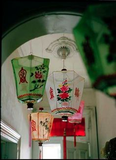 Silk lanterns. My sis got me one of these once and it still hangs over my worktable, making me happy every time I glance at it!