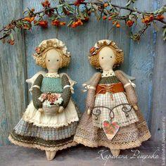 Купить Подружки из Кэндлфорда - коричневый, кантри, стиль кантри, кукла в стиле кантри, ангел