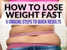 Learn the 5 most important steps on how to lose weight fast! No potions or powders real people losing 10-21 pounds in the first 3 weeks!