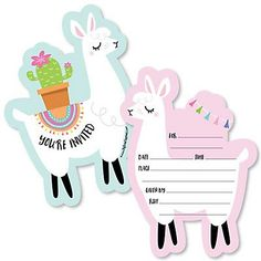 Llama Fun Shaped Lama Fiesta Baby Shower Filling Invitations or . - Birthdays cards diy -Whole Llama Fun Shaped Lama Fiesta Baby Shower Filling Invitations or . Tween Party Games, Princess Party Games, Dinner Party Games, Graduation Party Games, Birthday Party Games, Birthday Diy, Birthday Party Decorations, Birthday Party Invitations, Girl Birthday