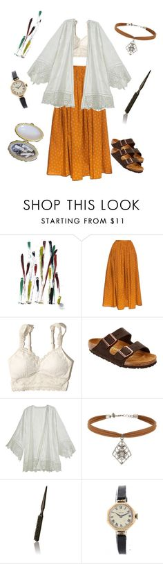 """""""Boys Don't Cry"""" by urmypoison ❤ liked on Polyvore featuring NOVICA, Thierry Colson, Hollister Co., Birkenstock, Calypso St. Barth, Miss Selfridge, Moroccanoil, Rolex and vintage"""