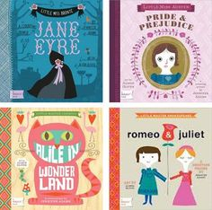 Classic novels turned into baby literature - such cute illustrations! Love these! :)