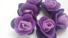 Ombre viola feltro fiori-rose e garofani di AprilShowersFelt