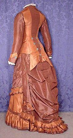 Silk taffeta gown, c.1876