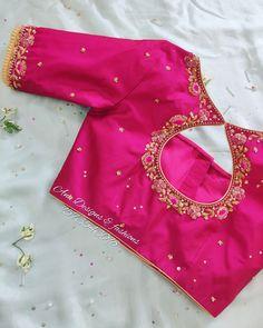 Pattu Saree Blouse Designs, Simple Blouse Designs, Stylish Blouse Design, Fancy Blouse Designs, Bridal Blouse Designs, Blouse Neck Designs, Blouse Styles, Blouse Patterns, Boutique