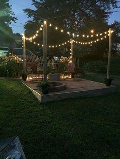 Hinterhof Terrasse 35 amazing back yard patio remodel ideas # amazing # back yard # ideas # terr Fire Pit Backyard, Backyard Patio, Backyard Landscaping, Backyard Seating, Landscaping Design, Fire Pit Landscaping Ideas, Fire Pit Pergola, Inexpensive Landscaping, Florida Landscaping