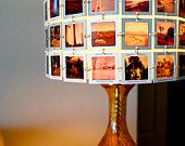CUSTOM New Droplet Table Lamp with Lampshade made from YOUR Slide