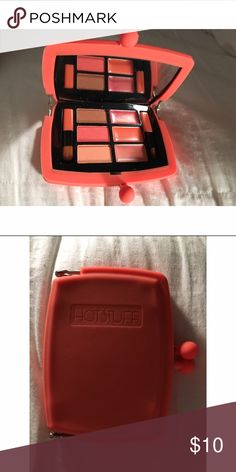Hotstuff Eyeshadow and Gloss pallet! New, never been used fun colored eyeshadow and lipgloss pallet! Received in one of my various cosmetic boxes and never found use for it! Colors are fun and bright and the case is super cute!❤️  Offers Welcome! No Trades! ✅Questions? Leave a comment below!✅ Makeup