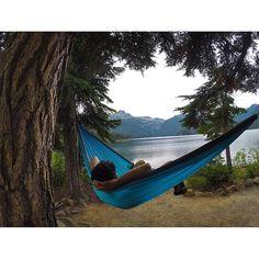 Relaxing at Callaghan Lake Provincial Park near Whistler.  (photo: @mountaindarlin via Instagram) #exploreBC #explorecanada