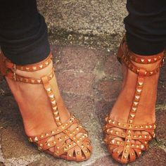 Studded sandals- have them in navy. Love them!
