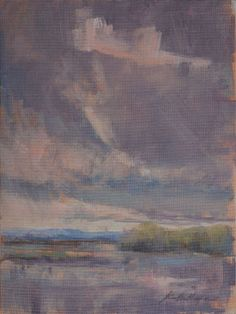 Karen  Hewitt Hagan, Storm Coming Over Bohicket Creek