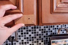 Installing Cabinet Knobs.  Good tip to know.