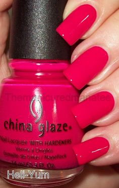 China Glaze Heli-Yum, dark cherry pink - China Glaze Heli-Yum, dark cherry pink The Effective Pictures We Offer You About Beauty images A q - Cute Nail Polish, Pink Nail Polish, Cute Nails, Pretty Nails, Nail Pink, Nail Art Designs, Colorful Nail Designs, Nails Design, Dark Pink Nails
