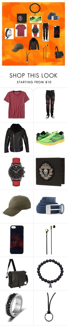 Hunter by nymph337 on Polyvore featuring Banana Republic, Balmain, Saucony, Emporio Armani, Alexander McQueen, Marc by Marc Jacobs, Under Armour, Dorfman Pacific, Kenneth Cole Reaction and Master & Dynamic