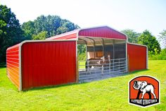 Two horse barn