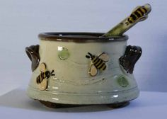 Bees Oval Dish with spoon 2011