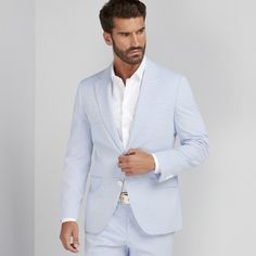 Cotton blazer.