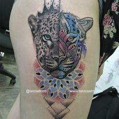 Jaguar tattoo by Tato Castro www.tatocastro.com