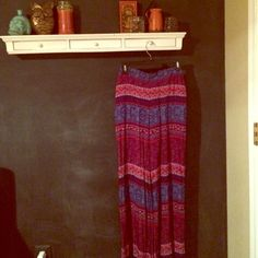 Forever 21 • boho maxi pants! NWT size small Forever 21 maxi pants. brand new, with tags! Bohemian purple/blue/orange print. looks like a maxi skirt, but they are pants! super stylish and comfy. perfect for summer :) Forever 21 Pants Wide Leg