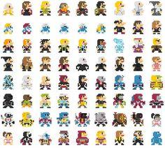 07-696 personajes clásicos geeks versión 8-Bits.