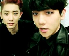 """BaekYeol and their little (in sync-ness) cute gestures when they're beside each other"""