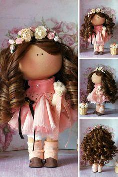 Interior doll Tilda doll Nursery doll Bambole Fabric doll