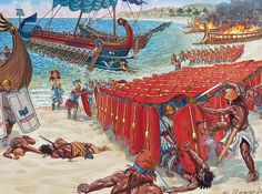 """""""Pompey the Great defeats Cilician Pirates, 66 BC"""", Giuseppe Rava"""