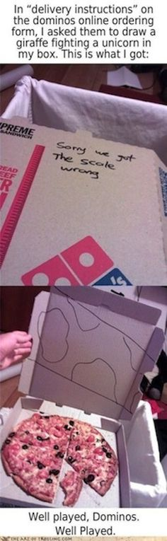 pizza box drawings requests giraffe