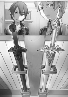 Original character design by abec for the Sword Art Online Light Novel Volume 1 Kirito's beta...