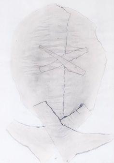 Janoušková Věra | Hlava – vrásky, 1987 | Aukce obrazů, starožitností | Aukční dům Sýpka