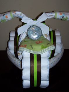 I Brake For Wait NO BRAKES (Tricycle Diaper Cake) on Etsy, $65.00