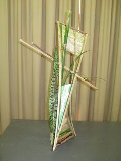 Abstract Designs, Floral Designs, Flower Structure, Ikebana Arrangements, Bamboo Design, Construction Design, Flower Show, Abstract Flowers, Creative Design