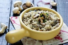 Pasta, 20 Min, Oatmeal, Good Food, Breakfast, Mushroom Risotto, Rice, Italian Dishes